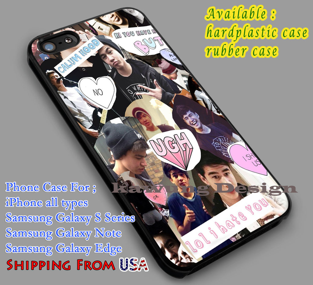 Callum Hood Collage | 5SOS | Popular Item iPhone 6s 6 6s+ 6plus Cases Samsung Galaxy s5 s6 Edge+ NOTE 5 4 3 #music #5sos dl2 - Kawung Design  - 1