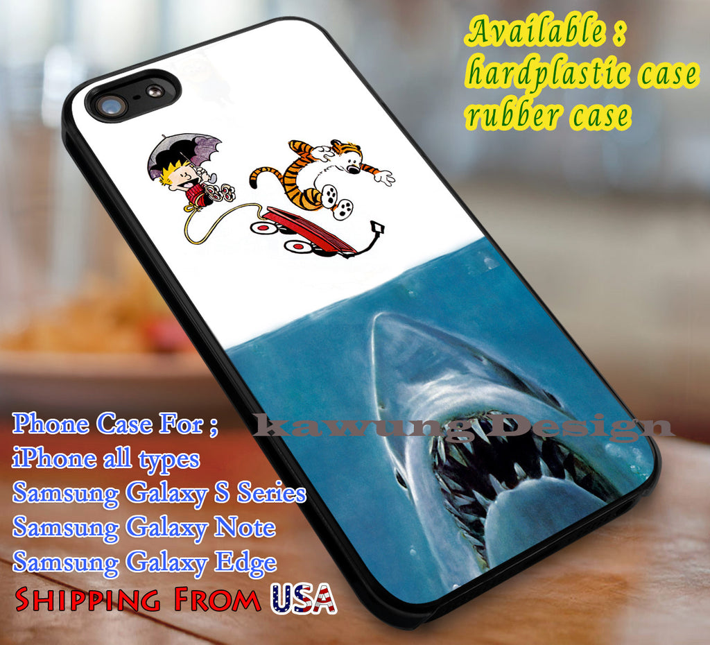 Calvin and Hobbes Jaws iPhone X 8+ 7 6s Cases Samsung Galaxy S8 S7 edge NOTE 8 5 4