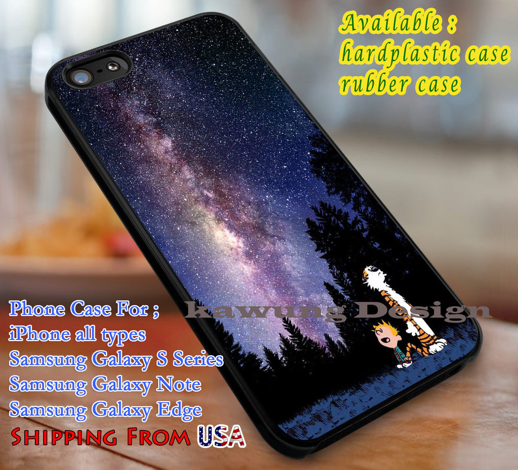 Calvin and Hobbes Nebula iPhone 8+ 7 6s Cases Samsung Galaxy S8 S7 edge NOTE 8 5 4