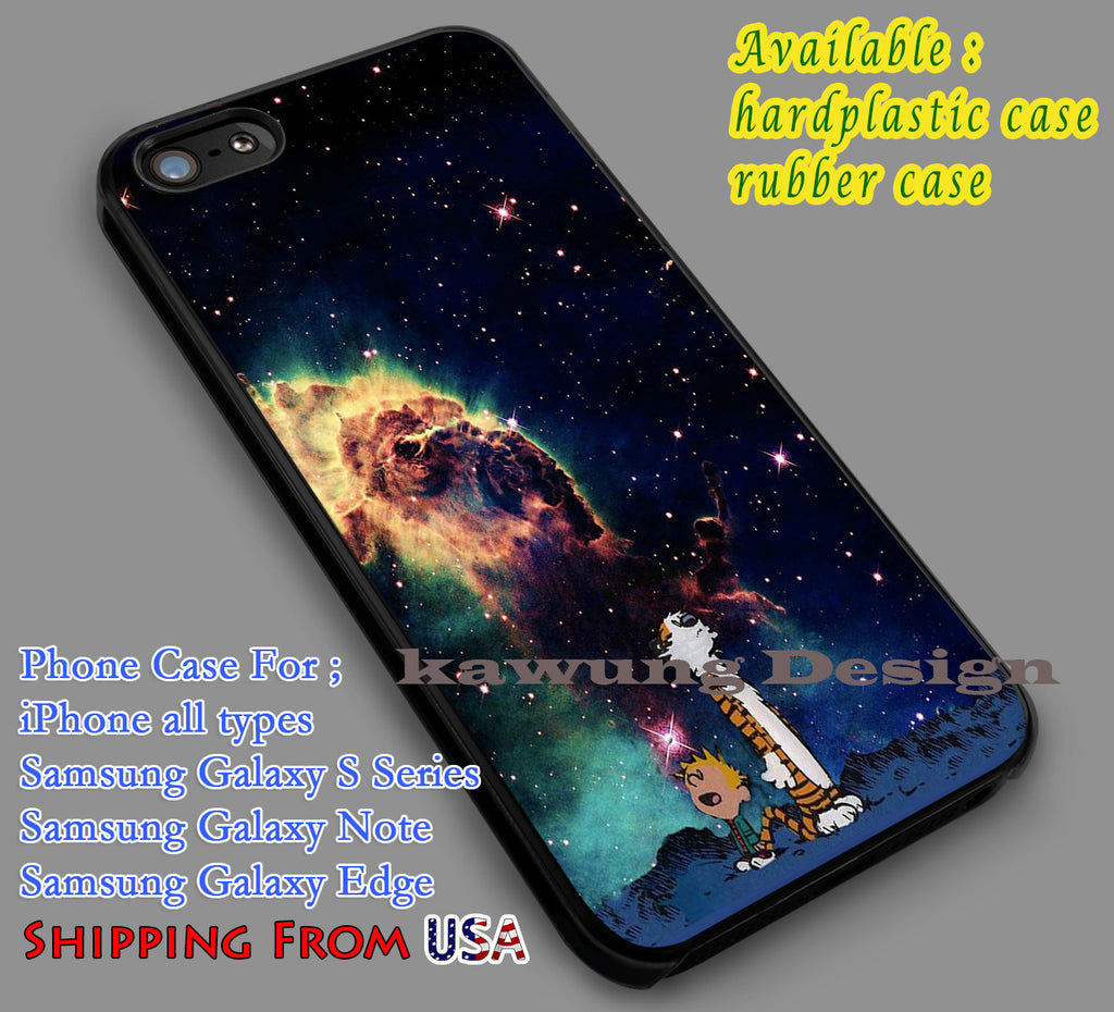 Calvin and Hobbes Nebula iPhone 6s 6 6s+ 5c 5s Cases Samsung Galaxy s5 s6 Edge+ NOTE 5 4 3 #cartoon #anime #calvinandhobbes dl7 - Kawung Design  - 1