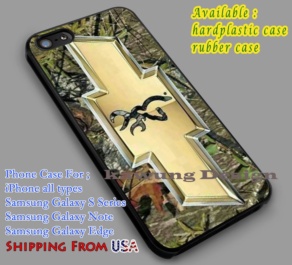 Camo Browning Chevrolet iPhone 8+ 7 6s Cases Samsung Galaxy S8 S7 edge NOTE 8 5 4