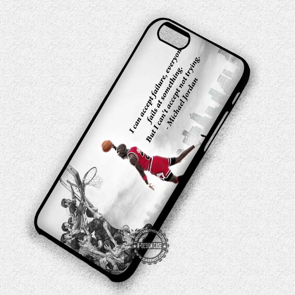 Can't Accept Michael Jordan Quote - iPhone 7 6 Plus 5c 5s SE Cases & Covers - Kawung Design  - 1