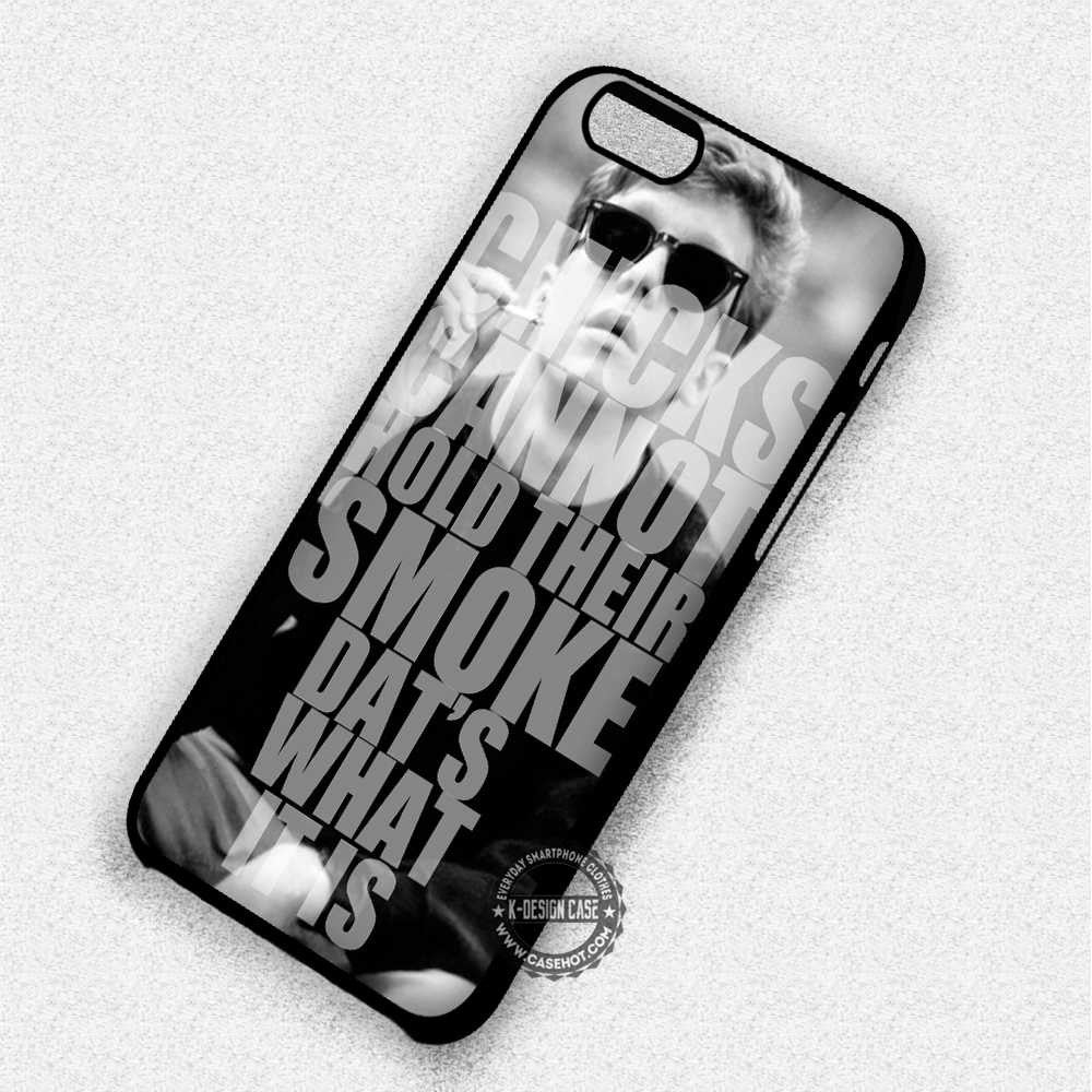 Smoke Quote Breakfast Club Brian Johnson - iPhone 7 6 Plus 5c 5s SE Cases & Covers - Kawung Design  - 1