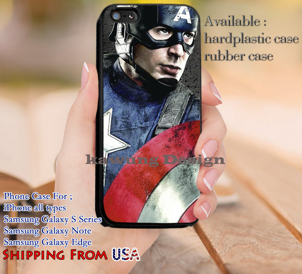 Captain America The Avengers iPhone 6s 6 6s+ 5c 5s Cases Samsung Galaxy s5 s6 Edge+ NOTE 5 4 3 #movie #disney #animated #marvel #comic #TheAvenger dl12 - Kawung Design  - 1