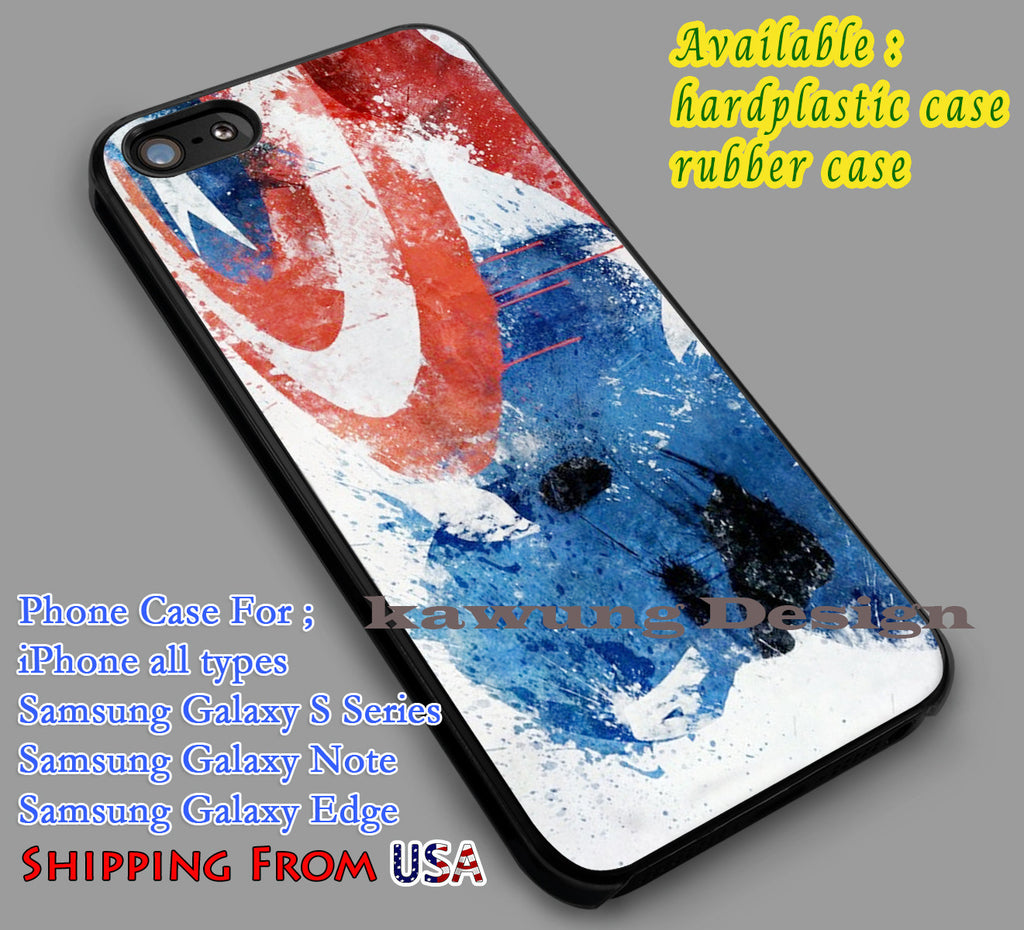 Captain America Painting iPhone 6s 6 6s+ 6plus Cases Samsung Galaxy s5 s6 Edge+ NOTE 5 4 3 #movie #disney #animated #marvel #comic dl5 - Kawung Design  - 1