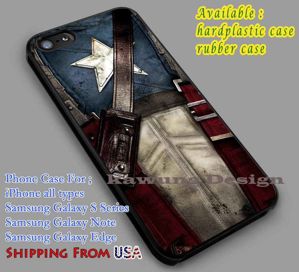 Captain America Suit iPhone 6s 6 6s+ 6plus Cases Samsung Galaxy s5 s6 Edge+ NOTE 5 4 3 #movie #disney #animated #marvel #comic dl5 - Kawung Design  - 4