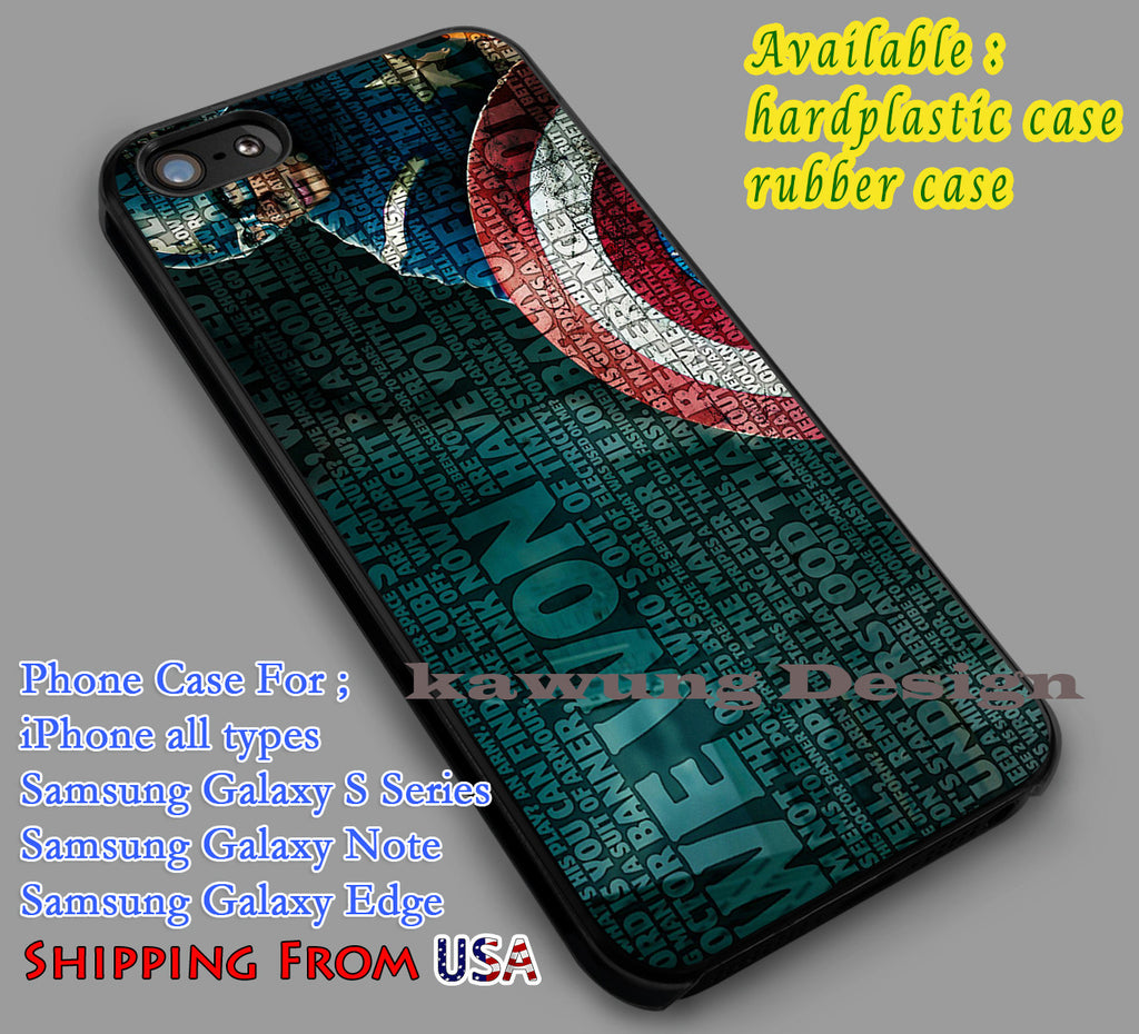 Captain Quotes | Captain America | Iron Man iPhone 6s 6 6s+ 6plus Cases Samsung Galaxy s5 s6 Edge+ NOTE 5 4 3 #movie #disney #animated #marvel #comic dl2 - Kawung Design  - 1