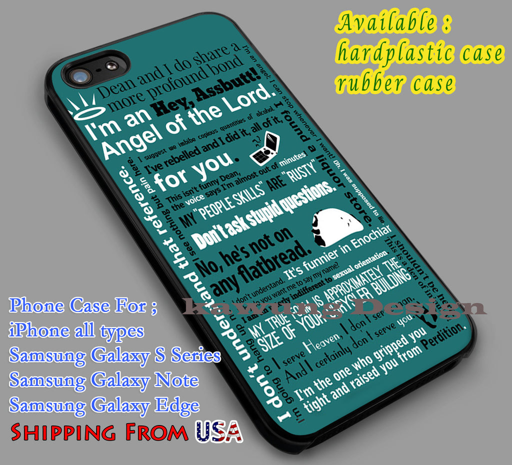 Castiel Quotes | Supernatural iPhone 6s 6 6s+ 6plus Cases Samsung Galaxy s5 s6 Edge+ NOTE 5 4 3 #movie #supernatural dl2 - Kawung Design  - 4