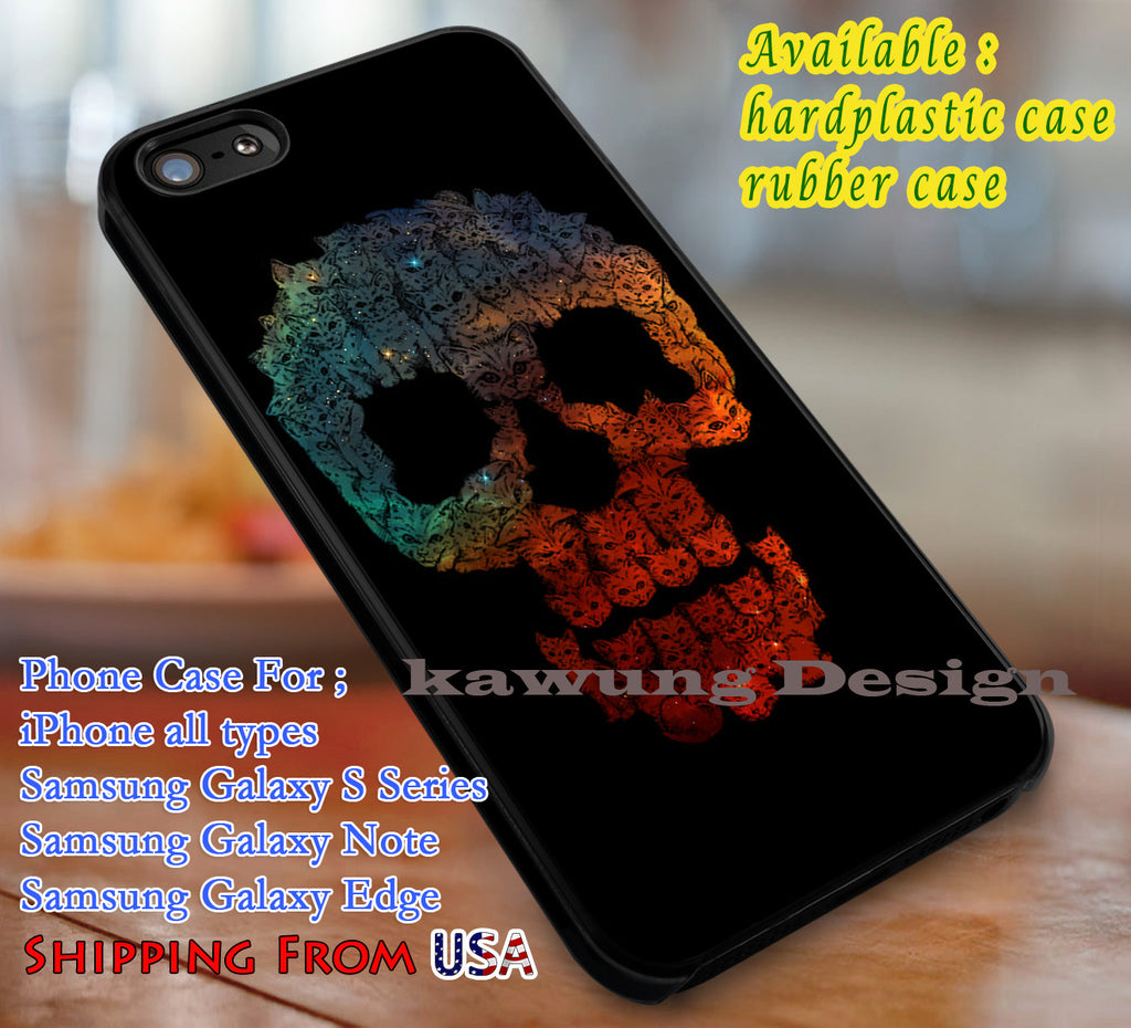 Cat Skull | Nebula iPhone 6s 6 6s+ 6plus Cases Samsung Galaxy s5 s6 Edge+ NOTE 5 4 3 #art dl3 - Kawung Design  - 1