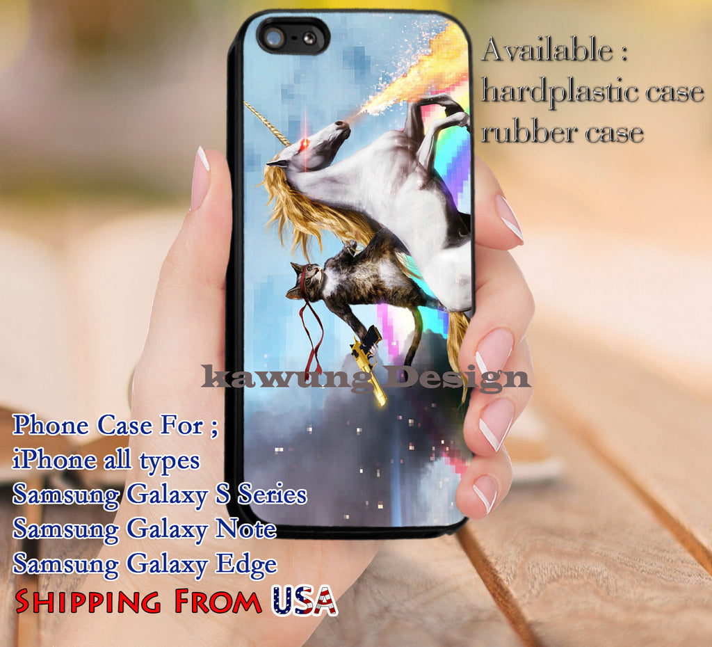 Cat & Unicorn Rainbow iPhone 6s 6 6s+ 5c 5s Cases Samsung Galaxy s5 s6 Edge+ NOTE 5 4 3 #art dl9 - Kawung Design  - 1