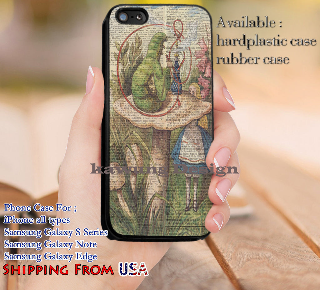 Caterpillar Alice in Wonderland iPhone 6s 6 6s+ 5c 5s Cases Samsung Galaxy s5 s6 Edge+ NOTE 5 4 3 #cartoon #anime #alice dl13 - Kawung Design  - 1