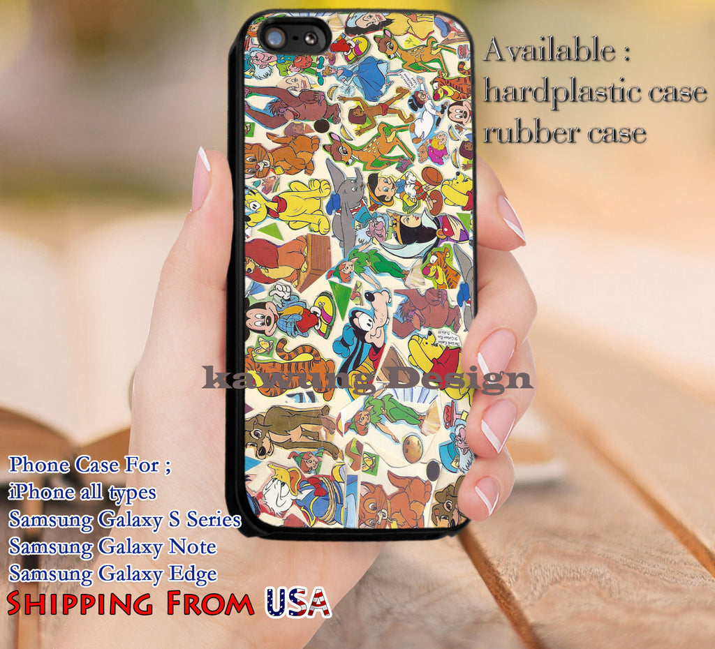 Characters Collage iPhone 6s 6 6s+ 5c 5s Cases Samsung Galaxy s5 s6 Edge+ NOTE 5 4 3 #cartoon #disney #animated #disneycastle dl10 - Kawung Design  - 1