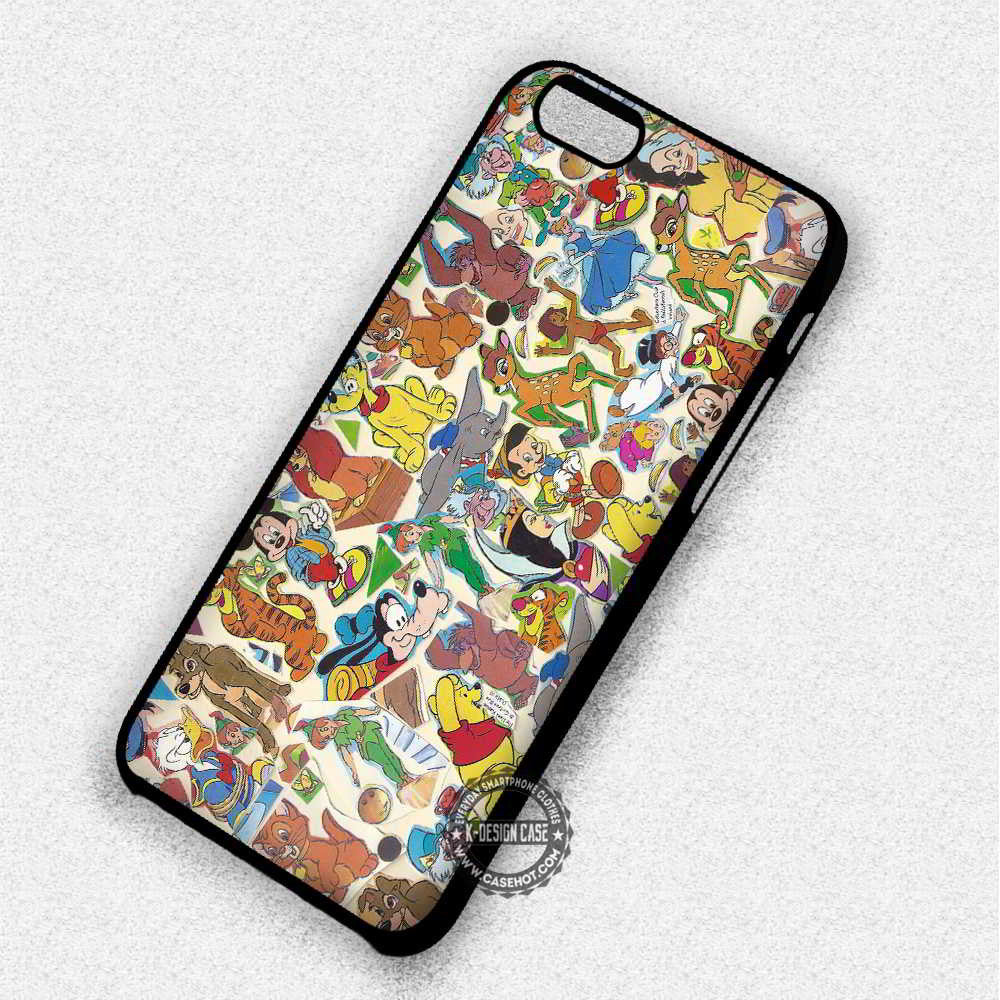 Characters Collage Donald Duck - iPhone 7 6 Plus 5c 5s SE Cases & Covers - Kawung Design  - 1