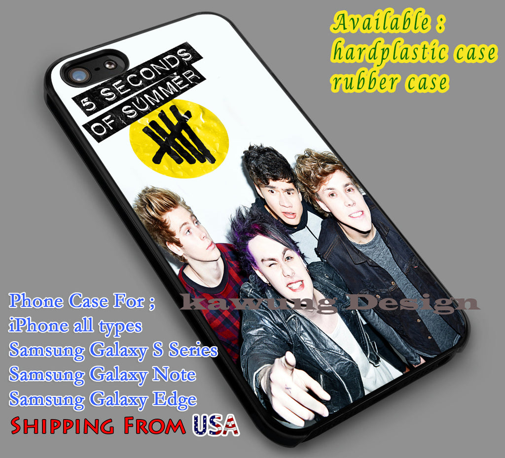 Cheerful 5SOS Band iPhone 6s 6 6s+ 5c 5s Cases Samsung Galaxy s5 s6 Edge+ NOTE 5 4 3 #music #5sos dl7 - Kawung Design  - 1