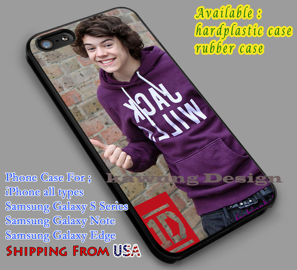 Cheerful Harry Styles | 1D | One Direction iPhone 6s 6 6s+ 6plus Cases Samsung Galaxy s5 s6 Edge+ NOTE 5 4 3 #music #1d dl2 - Kawung Design  - 1