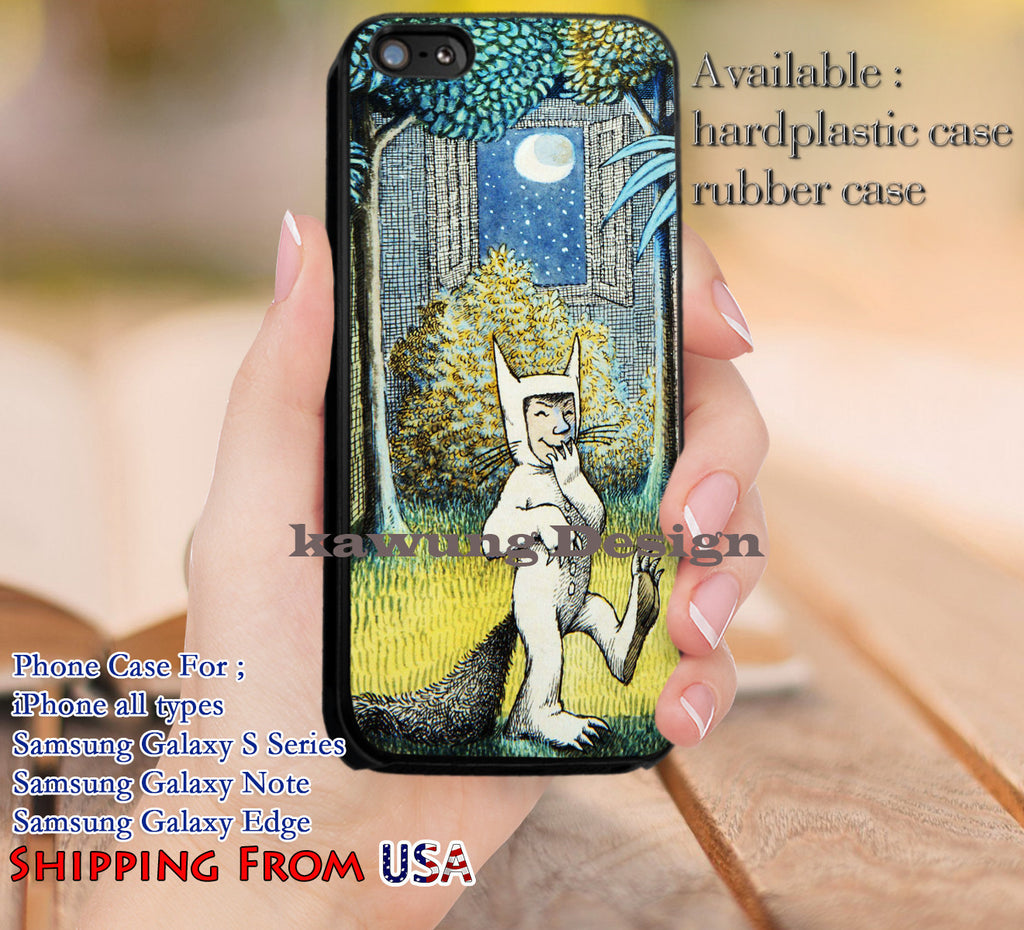 Childrens Picture Book Where The Wild Things iPhone 6s 6 6s+ 5c 5s Cases Samsung Galaxy s5 s6 Edge+ NOTE 5 4 3 #cartoon #WhereTheWildThingsAre dl12 - Kawung Design  - 1