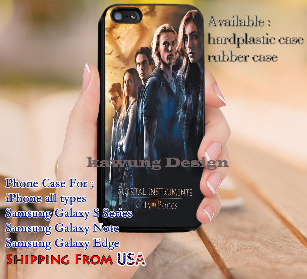 City & Bones Mortal Instruments iPhone 6s 6 6s+ 5c 5s Cases Samsung Galaxy s5 s6 Edge+ NOTE 5 4 3 #movie #TheMortalinstruments dl9 - Kawung Design  - 1