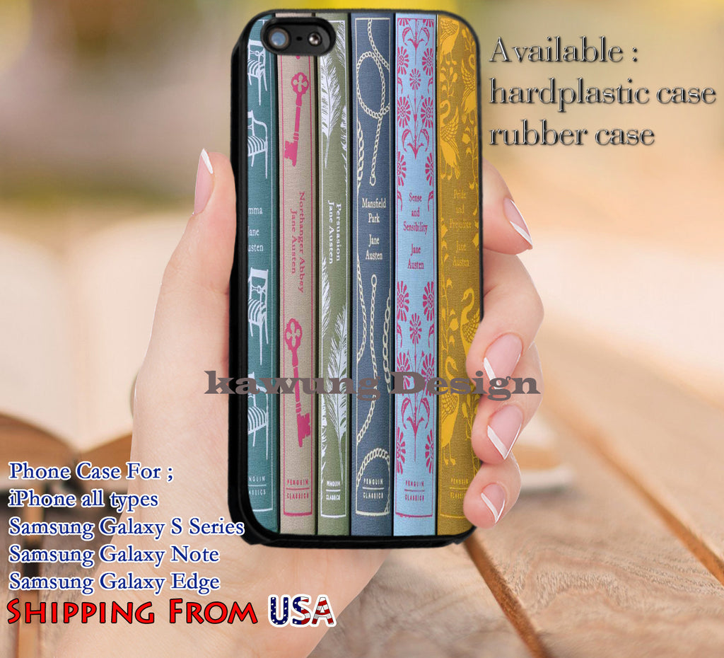 Classic Books Jane Austen iPhone 6s 6 6s+ 5c 5s Cases Samsung Galaxy s5 s6 Edge+ NOTE 5 4 3 #art dl11 - Kawung Design  - 1