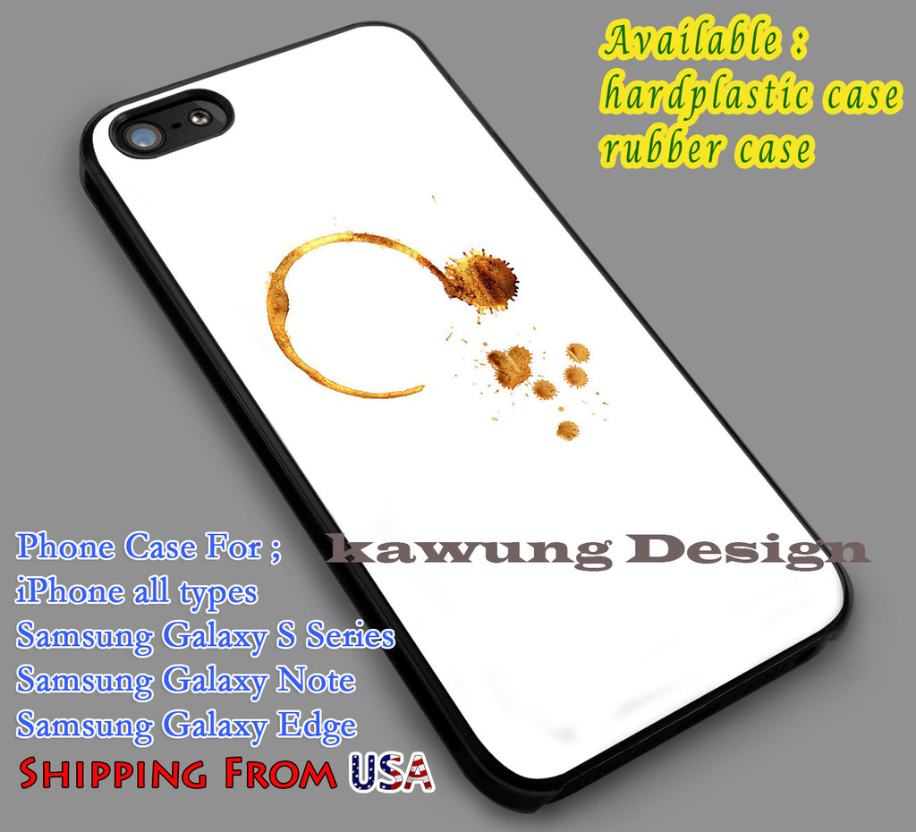 Coffee Stains Unique iPhone 6s 6 6s+ 5c 5s Cases Samsung Galaxy s5 s6 Edge+ NOTE 5 4 3 #art dl7 - Kawung Design  - 1