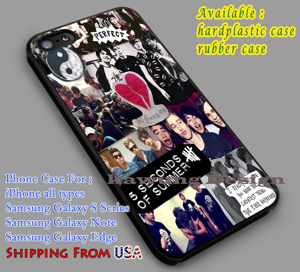 Collage 5SOS iPhone 8+ 7 6s Cases Samsung Galaxy S8 S7 edge NOTE 8 5 4