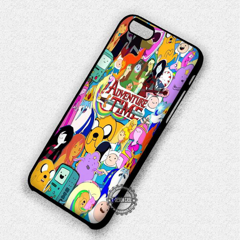 Colorful Collage Adventure Time - iPhone 7 6 Plus 5c 5s SE Cases & Covers - Kawung Design  - 1
