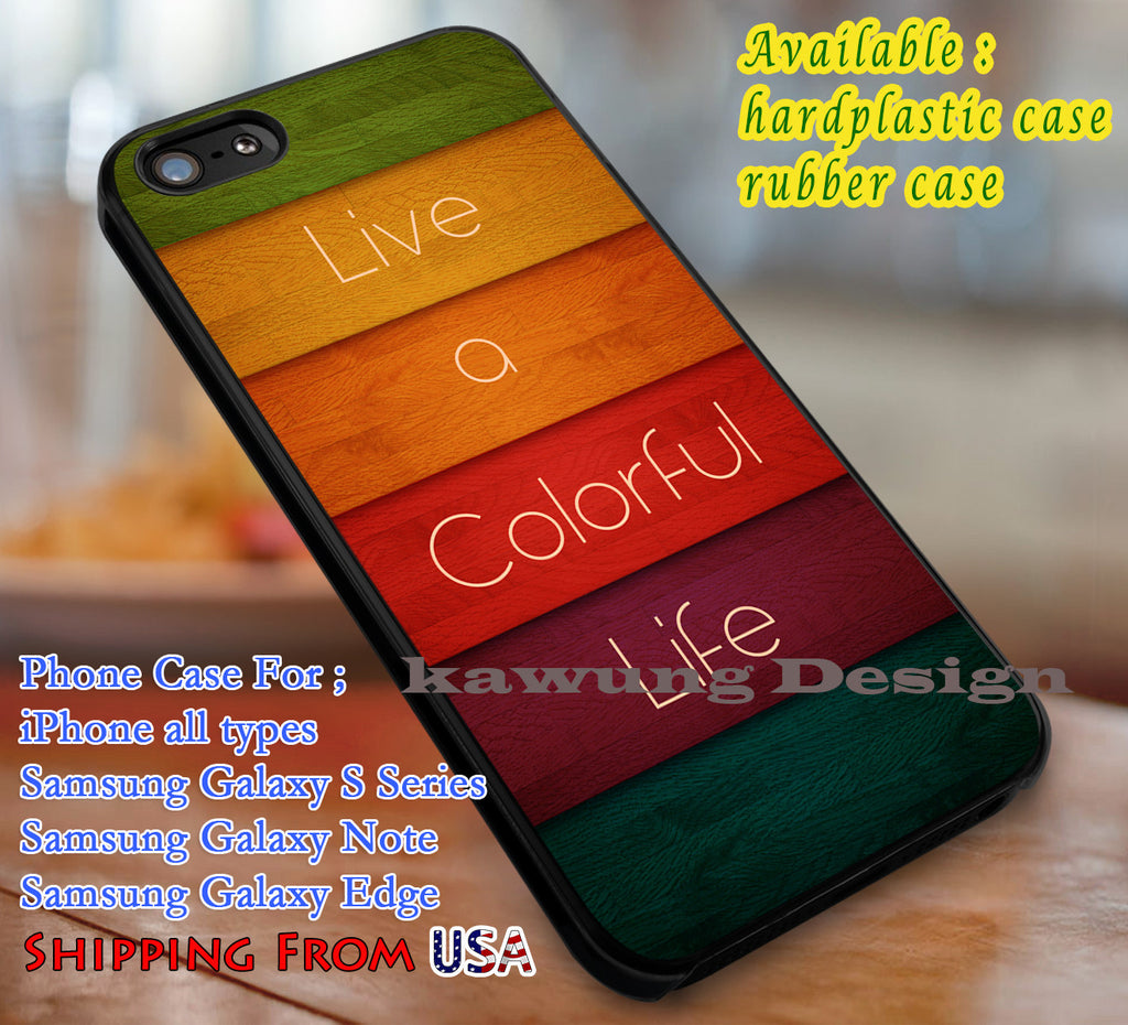 Colorful Life Quote | Vintage | Retro iPhone 6s 6 6s+ 6plus Cases Samsung Galaxy s5 s6 Edge+ NOTE 5 4 3 #quote dl1 - Kawung Design  - 1