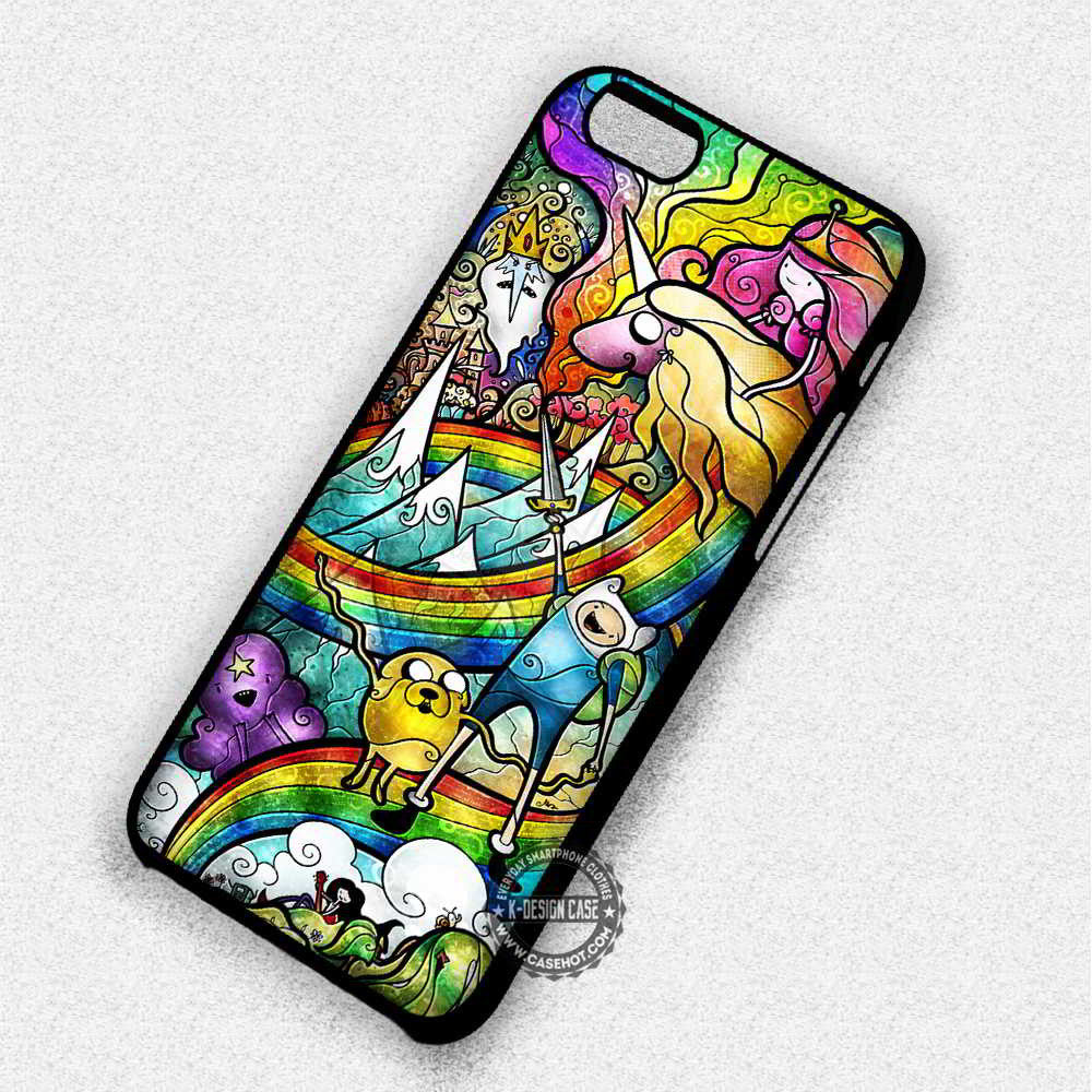 Colorful Stained Glass Adventure Time - iPhone 7 6 Plus 5c 5s SE Cases & Covers - Kawung Design  - 1