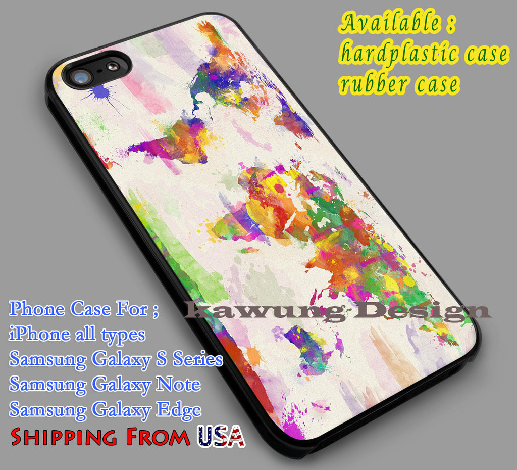 Colorful | World Map | Vintage iPhone 6s 6 6s+ 6plus Cases Samsung Galaxy s5 s6 Edge+ NOTE 5 4 3 #art dl2 - Kawung Design  - 4