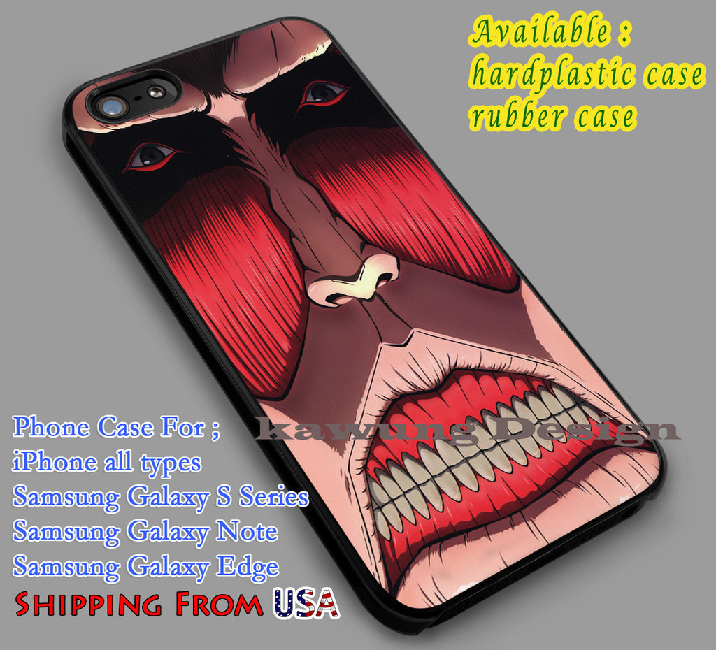 Colossal Titan | Anime iPhone 6s 6 6s+ 6plus Cases Samsung Galaxy s5 s6 Edge+ NOTE 5 4 3 #cartoon #anime #attackontitan dl2 - Kawung Design  - 1