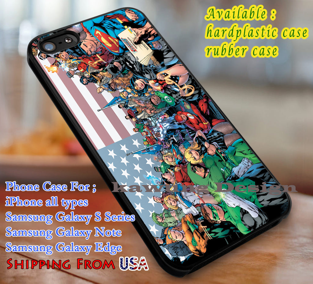 Comic Heroes DC Comics iPhone 6s 6 6s+ 6plus Cases Samsung Galaxy s5 s6 Edge+ NOTE 5 4 3 #cartoon #superheroes dl3 - Kawung Design  - 1