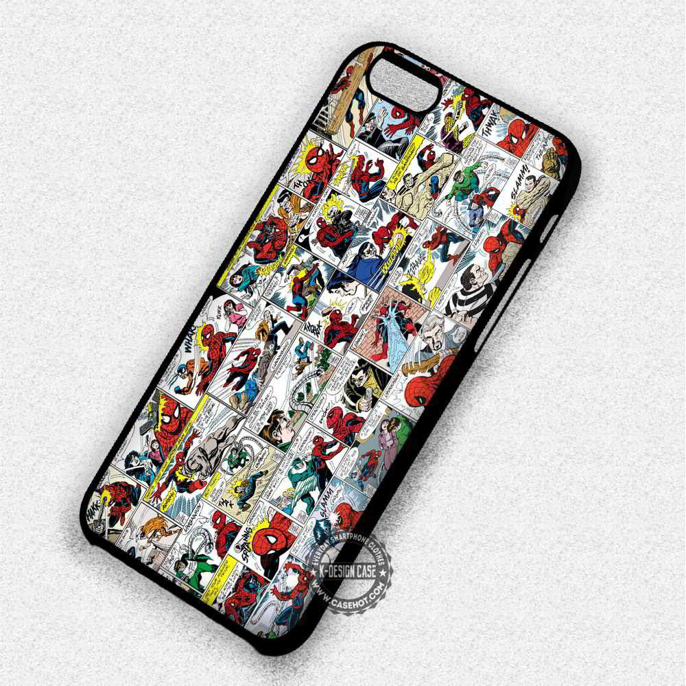 Comic Strips Spiderman - iPhone 7 6 Plus 5c 5s SE Cases & Covers - Kawung Design  - 1