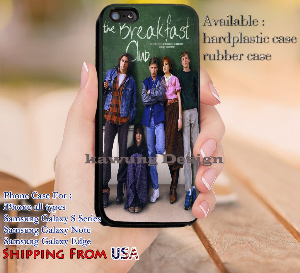 Coming of Age Comedy Drama The Breakfast Club iPhone 6s 6 6s+ 5c 5s Cases Samsung Galaxy s5 s6 Edge+ NOTE 5 4 3 #movie #TheBreakfastClub #comedy dl12 - Kawung Design  - 1