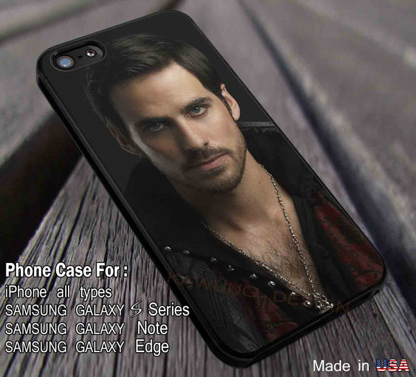 Cool Captain Hook Once Upon a Time iPhone 6s 6 6s+ 5s 5c 4s Cases Samsung Galaxy s5 s6 Edge+ NOTE 5 4 3 #movie #disney #animated #onceuponatime dl3 - Kawung Design  - 1