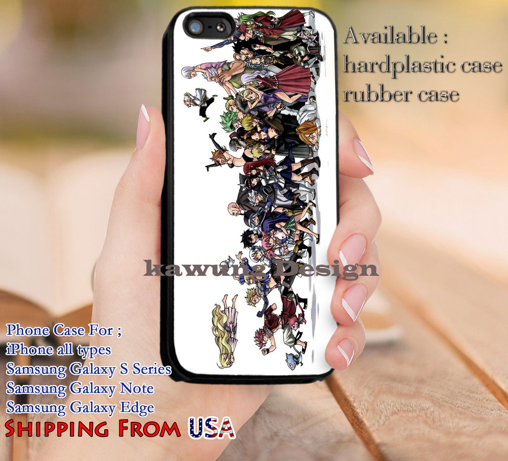 Cool Characters Fairy Tail iPhone 6s 6 6s+ 5c 5s Cases Samsung Galaxy s5 s6 Edge+ NOTE 5 4 3 #cartoon #anime #FairyTail dl11 - Kawung Design  - 1