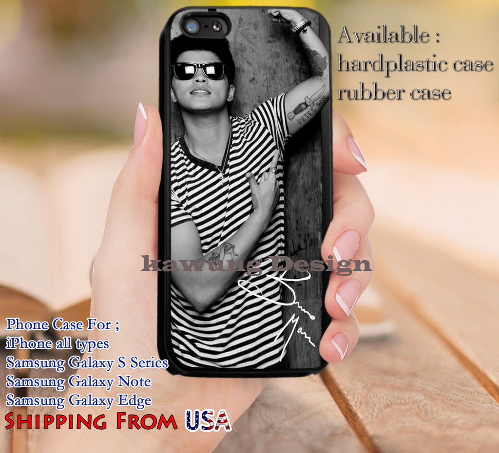 Cool Handsome Bruno Mars Signature iPhone 6s 6 6s+ 5c 5s Cases Samsung Galaxy s5 s6 Edge+ NOTE 5 4 3 #music #bmr dl12 - Kawung Design  - 1