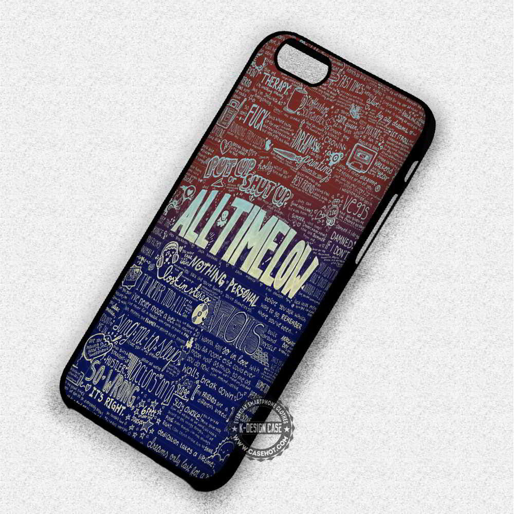 Cool Lyrics Art All Time Low - iPhone 7 6 Plus 5c 5s SE Cases & Covers - Kawung Design  - 1