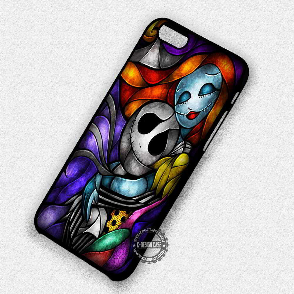 Couple Stainned Glass Nightmare Before Christmas - iPhone 7 6 Plus 5c 5s SE Cases & Covers - Kawung Design  - 1