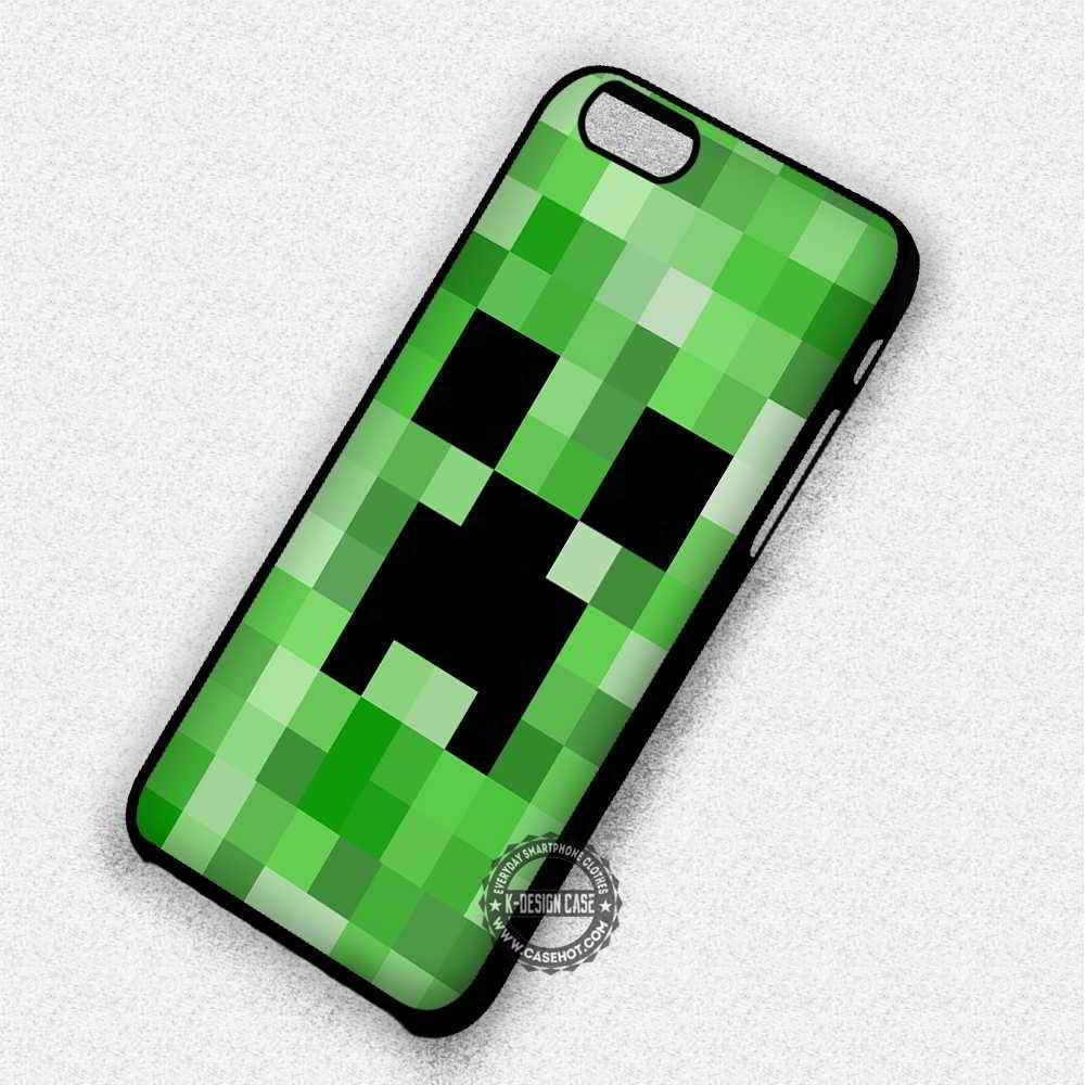 Creeper Minecraft Game - iPhone 7 6 Plus 5c 5s SE Cases & Covers - Kawung Design  - 1