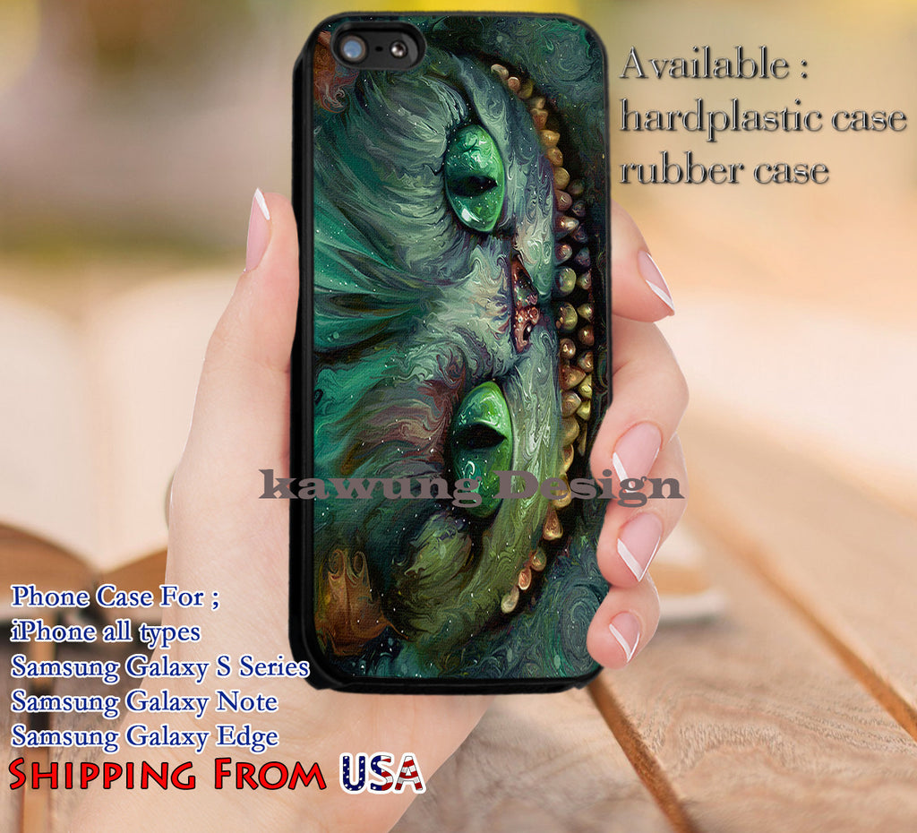 Creepy Cat Cheshire iPhone 6s 6 6s+ 5c 5s Cases Samsung Galaxy s5 s6 Edge+ NOTE 5 4 3 #cartoon #anime #alice dl11 - Kawung Design  - 1