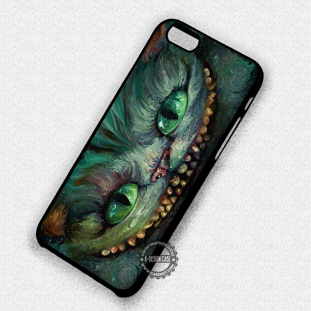 Creepy Cheshire Cat Alice in Wonderland - iPhone 7 6 Plus 5c 5s SE Cases & Covers - Kawung Design  - 1