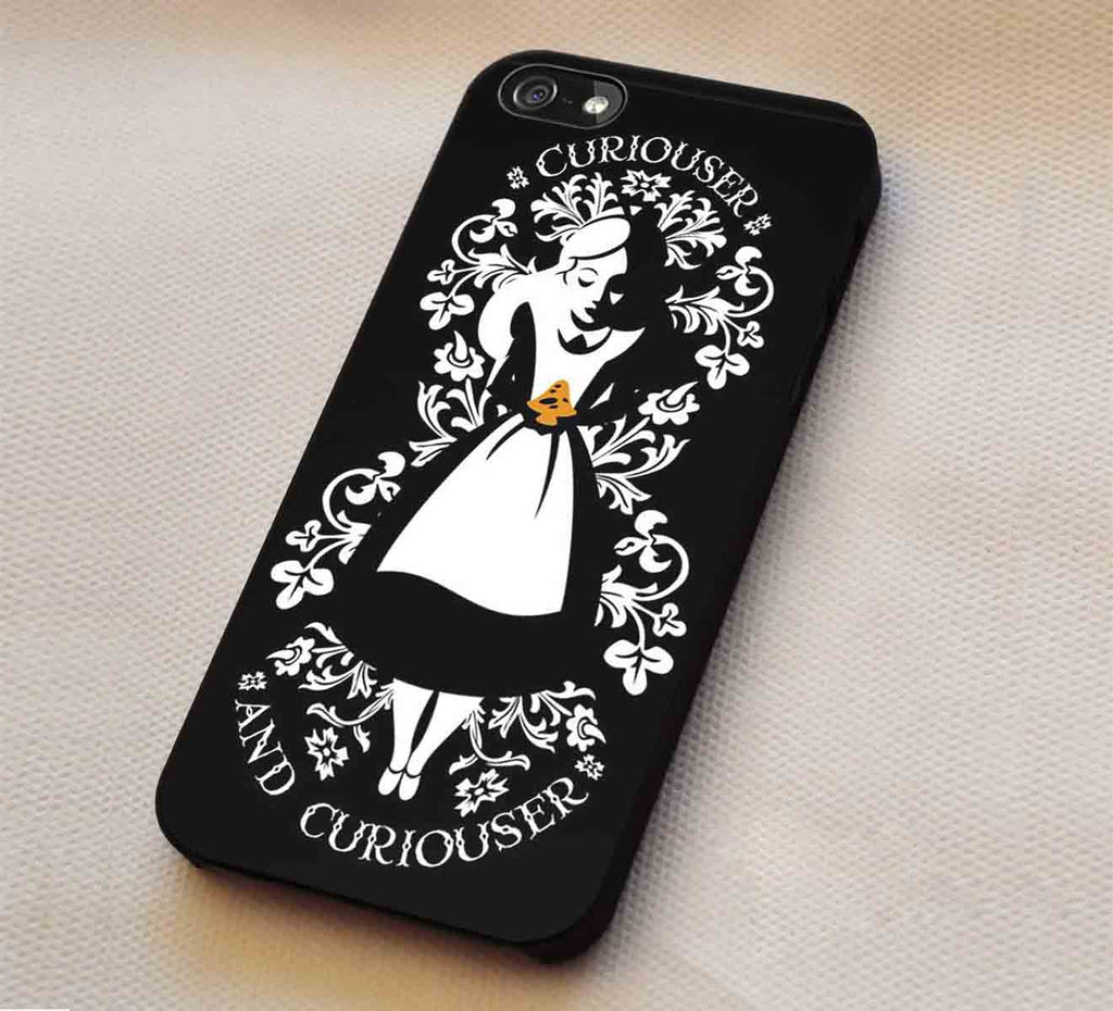 Curiouser Alice Wonderland iPhone 6s 6 6s+ 5c 5s Cases Samsung Galaxy s5 s6 Edge NOTE 5 4 3 #cartoon #anime #alice lk1 - Kawung Design  - 1