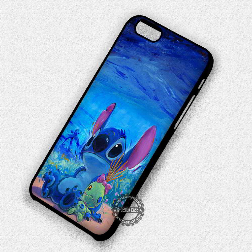 Cute Lilo And Stitch - iPhone 7 6 Plus 5c 5s SE Cases & Covers - Kawung Design  - 1
