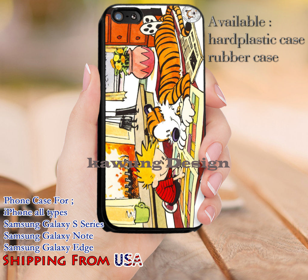 Cute Calvin and Hobbes iPhone 6s 6 6s+ 5c 5s Cases Samsung Galaxy s5 s6 Edge+ NOTE 5 4 3 #cartoon #anime #calvinandhobbes dl13 - Kawung Design  - 1
