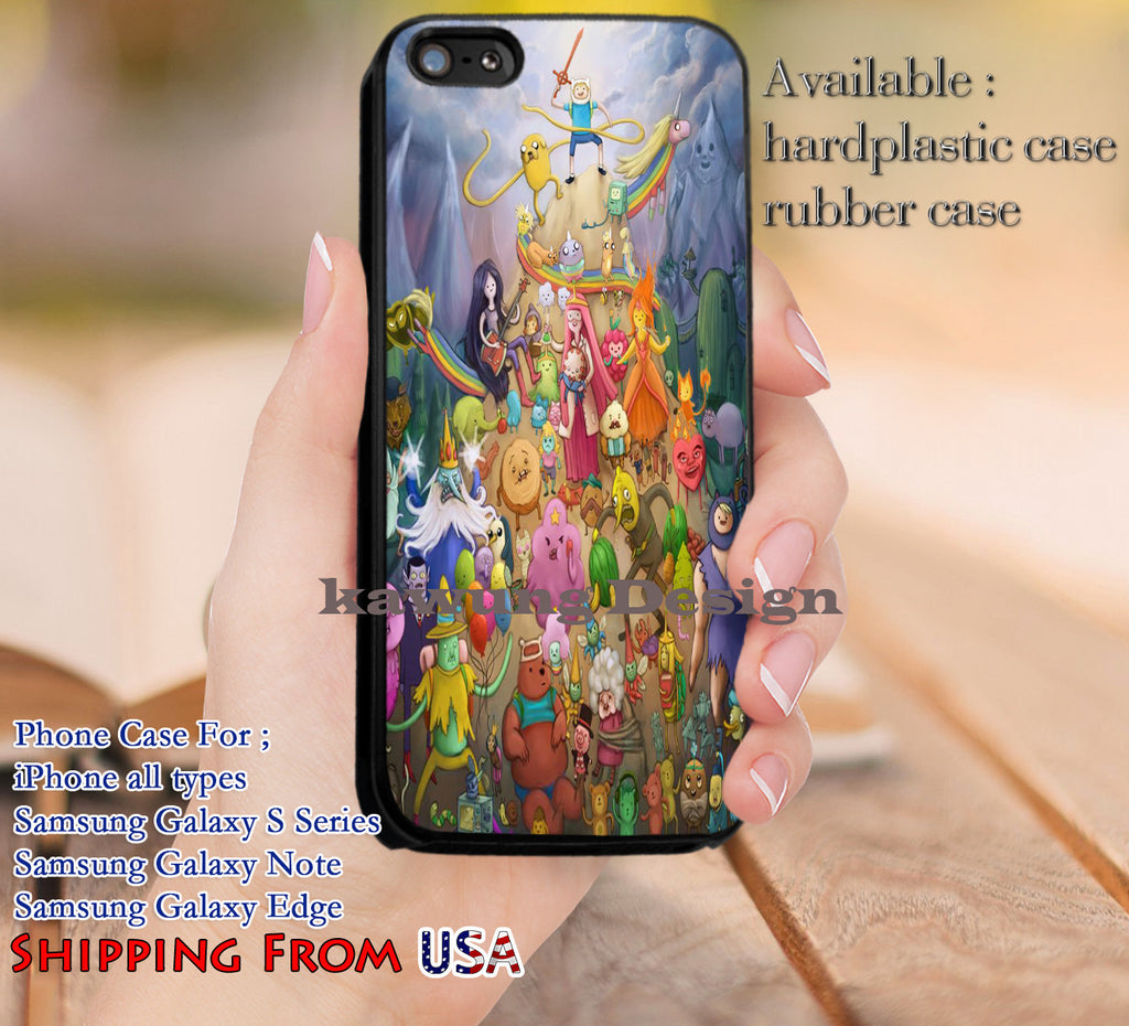 Cute Characters Adventure Time iPhone 6s 6 6s+ 5c 5s Cases Samsung Galaxy s5 s6 Edge+ NOTE 5 4 3 #cartoon #anime #adventuretime dl14 - Kawung Design  - 1
