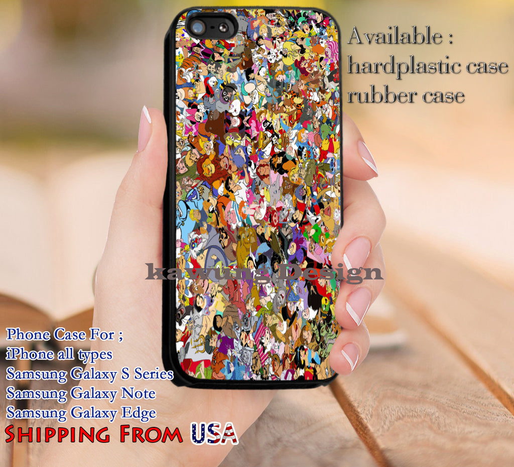 Cute Characters Collage Disney iPhone 6s 6 6s+ 5c 5s Cases Samsung Galaxy s5 s6 Edge+ NOTE 5 4 3 #cartoon #disney #animated #disneycastle dl11 - Kawung Design  - 1