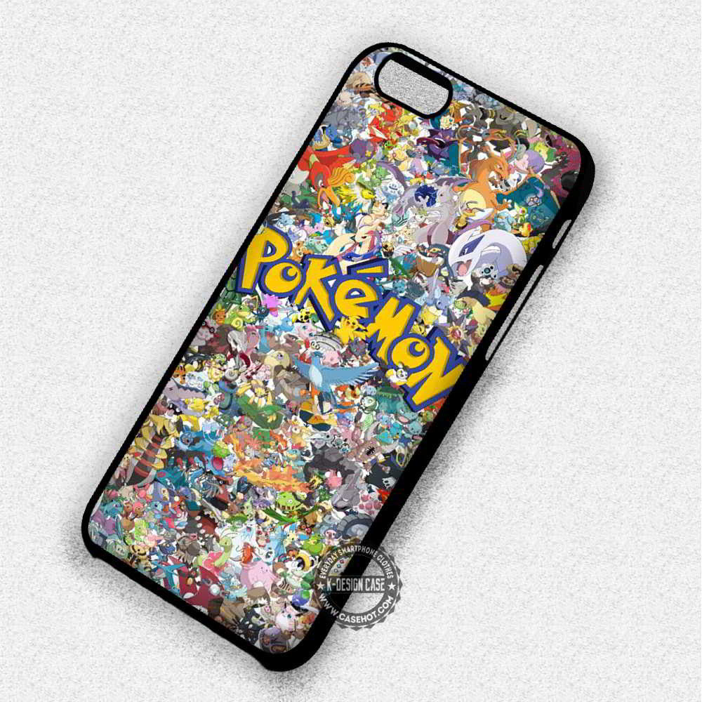 Cute Pokemon Collage Anime - iPhone 7 6 SE Cases & Covers - Kawung Design  - 1