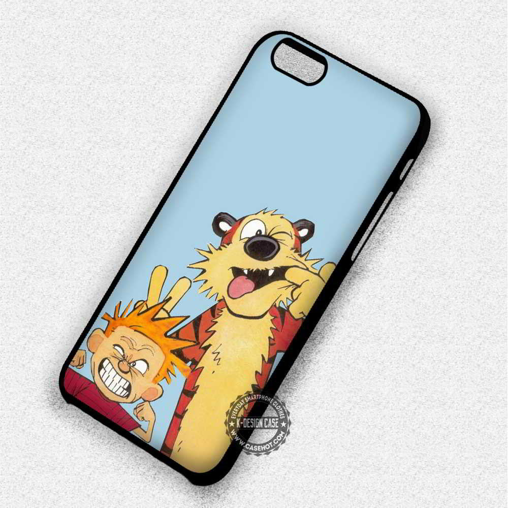 Cute Friendship Calvin and Hobbes - iPhone 7 6 Plus 5c 5s SE Cases & Covers - Kawung Design  - 1