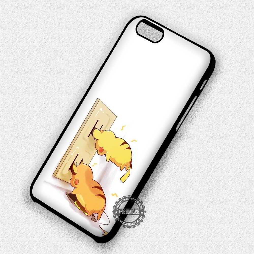 Cute Plug And Electrical Socket Pikachu Pokemon - iPhone 7 6 Plus 5c 5s SE Cases & Covers - Kawung Design  - 1