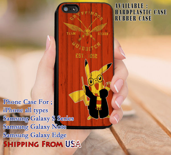 Cute Wizard Pikachu Harry Potter iPhone 6s 6 6s+ 5c 5s Cases Samsung Galaxy s5 s6 Edge+ NOTE 5 4 3 #movie #HarryPotter #pokemon dl8 - Kawung Design  - 1