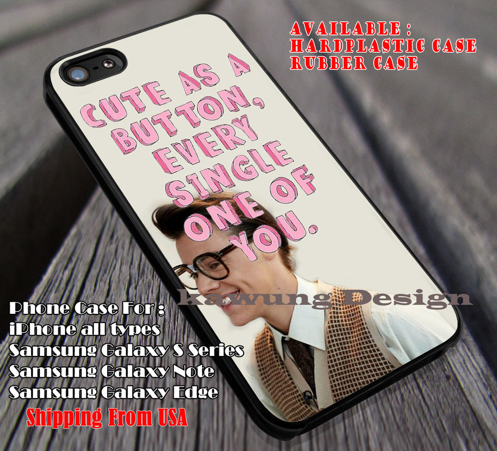 Cute as a Button-styles song,one direction,Harry Styles,1D case/cover for iPhone 4/4s/5/5c/6/6+/6s/6s+ Samsung Galaxy S4/S5/S6/Edge/Edge+ NOTE 3/4/5 #music #1d ii - Kawung Design  - 1